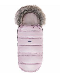 Regulowany śpiworek Grow up do wózka i fotelika z pluszem - Pastel Pink powder