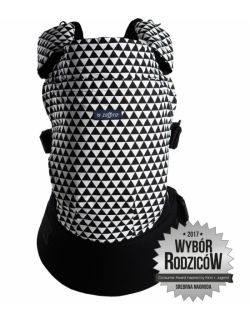 Nosidełko ergonomiczne Care Black and white