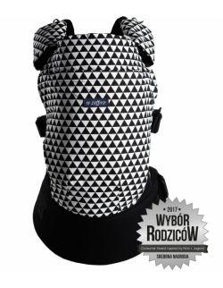 Nosidełko ergonomiczne Care Trójkąty biało czarne