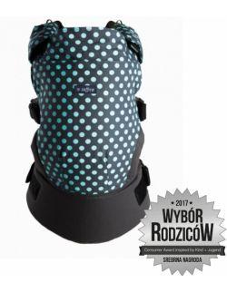 Nosidełko ergonomiczne Care Grochy szaro turkusowe