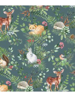 tapeta w rolce woodland | green - pastelowe love