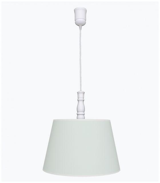 Lampa wisząca miętowa z białą lamówką
