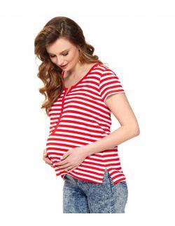 koszulka dla kobiet w ciąży i mam karmiących w paski