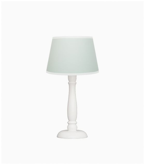 Lampka nocna miętowa z białą lamówką