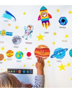 wielorazowe naklejki - kosmos dla dzieci