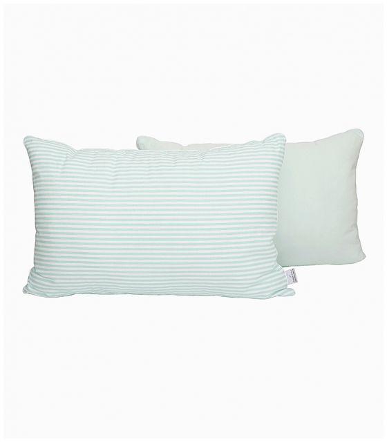 Poduszka na łóżko w miętowe paski