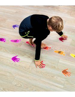 Wielorazowe naklejki na podłogę - matematyka w ruchu zestaw
