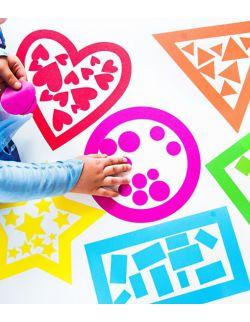 Wielorazowe naklejki - kształty - kolory - poznaję kształty i kolory