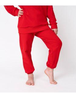 Baggy dresowe czerwone