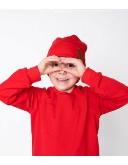 Bluza dresowa czerwona