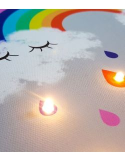 ŚWIECĄCY obraz TĘCZA lampka dla dziecka dekoracja