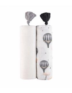 Szumisie, Zestaw dwóch bambusowych otulaczy Biel, Balony