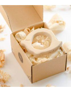 Gryzak drewniany Pan Ćwir w pudełku
