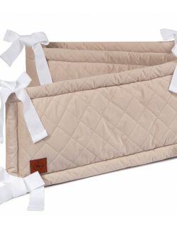 Ochraniacz do łóżeczka kremowy pikowany velvet