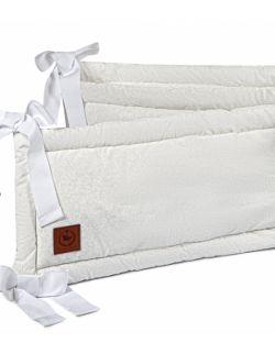 Ochraniacz do łóżeczka szara koronka bawełna Premium
