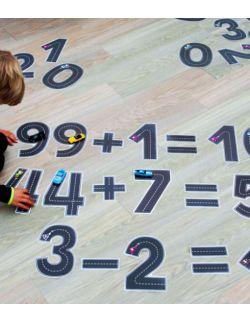 Wielorazowe naklejki na podłogę - uczę się liczyć - matematyka - drogi liczby