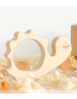 Gryzak drewniany Żółwik