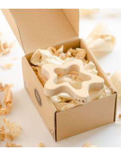 Gryzak drewniany Pani Rozgwiazda w pudełku