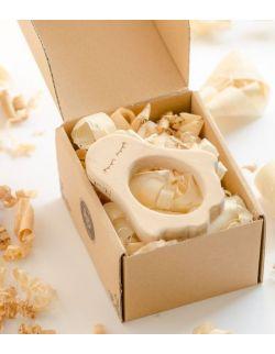 Gryzak drewniany Pingwinek w pudełku