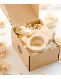 Gryzak drewniany Lisek w pudełku