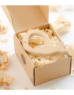 Gryzak drewniany Pan Wieloryb w pudełku