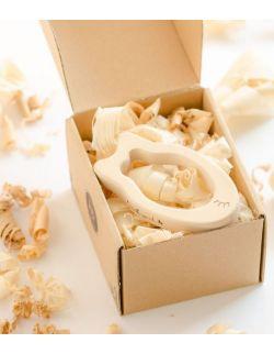 Gryzak drewniany Pani Rybka w pudełku