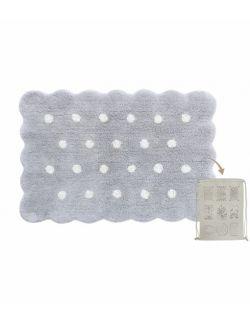 Dywan Bawełniany Mini Biscuit Pearl Grey 70x100 cm Lorena Canals