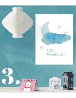 ŚWIECĄCY KSIĘŻYC personalizowany imieniem - lampa obraz prezent dla dziecka