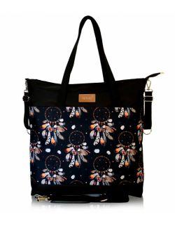 wodoodporna torba do wózka shopper (kwiaty vintage - beż)