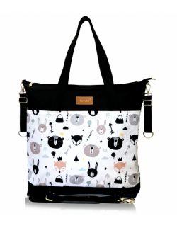 wodoodporna torba do wózka shopper (czarne zwierzątka - czarna)