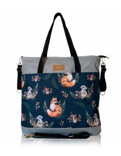 wodoodporna torba do wózka shopper (fox - jasno szara)