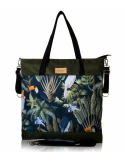 wodoodporna torba do wózka shopper (dżungla - khaki)