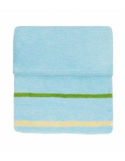 Koc bawełniany 75 x 100 cm Paski niebieskie