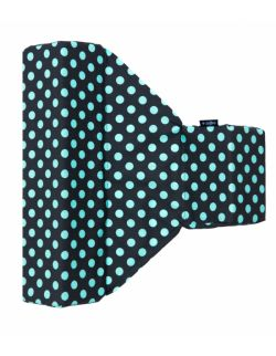 Ogranicznik trójkątny Grochy szaro turkusowe