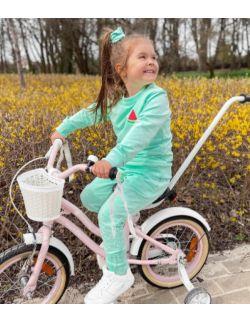Dres dziecięcy miętowy dla dziewczynki, arbuz, pastelowy