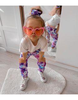 Zestaw dla dziewczynki: Galaxy Unicorn, bawełniana koszulka, spodnie, frotka do włosów