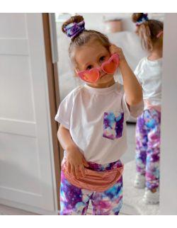 Zestaw dla dziewczynki: Galaxy Unicorn, bawełniana koszulka, spodnie,