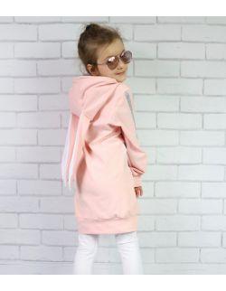 Sukienka dresowa - Morelowy Królik
