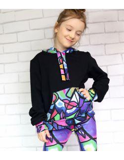 Zestaw Kolorowa Abstrakcja - Bluza plus Leginsy
