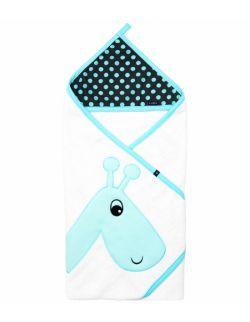 Okrycie kąpielowe Bawełna 80 x 80 Żyrafa Biały Grochy szaro turkusowe