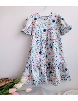 sukienka kolorowa łąka