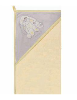 Okrycie kąpielowe Bawełna Welur 100x100 Żółto szary Zając Ż