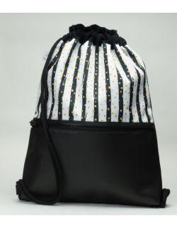 Plecak worek dla młodzieży Zebra