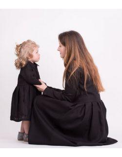 Sukienka dla córki BLACK LINEN