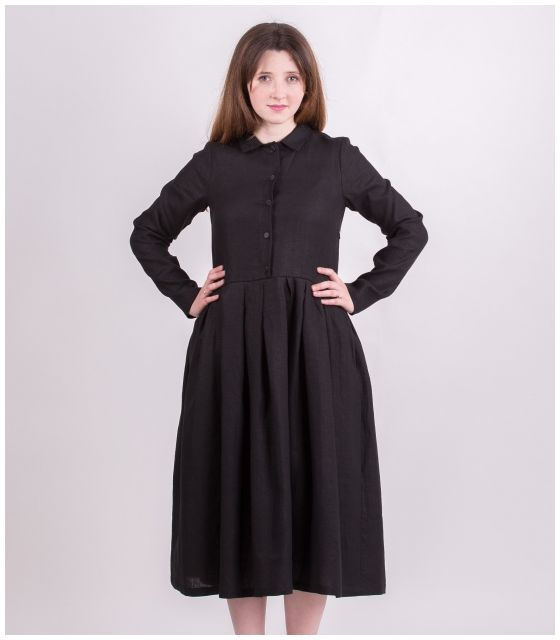 Sukienka dla mamy BLACK LINEN