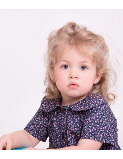 Sukienka dla córki FLORAL NAVY BLUE