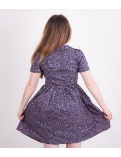 Sukienka dla mamy FLORAL NAVY BLUE