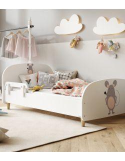Łóżko Olli 140x70 białe - myszka