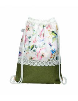 Plecak worek dla dorosłych Kwiaty