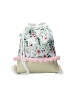 Plecak Worek dla najmłodszych Różyczki z pomponikami